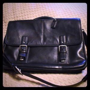 Coach leather briefcase